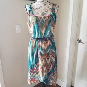 Bisou Bisou High Low Dress sz 6